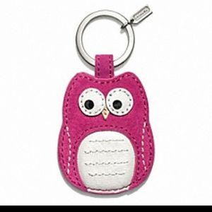 Coach Limited Edition Owl Keychain NWT